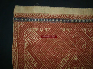 791 Superb Antique Sumatran Tampan Shipcloth textile art - WOVENSOULS