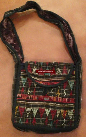 480 Sling Bag made using Vintage Bishnoi Tribal Textile -ART-GALLERY-INTERIOR-HOME-DECOR-FASHION-STYLE-MUSEUM