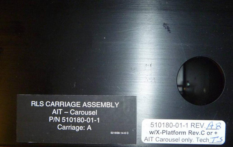 Qualstar 510180-01-1 RLS-4221 Library Complete AIT Carriage & Picker Assembly