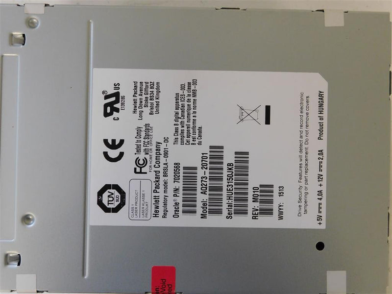 SUN 7020568 LTO5 FC Tape Drive With SL500 Library Target