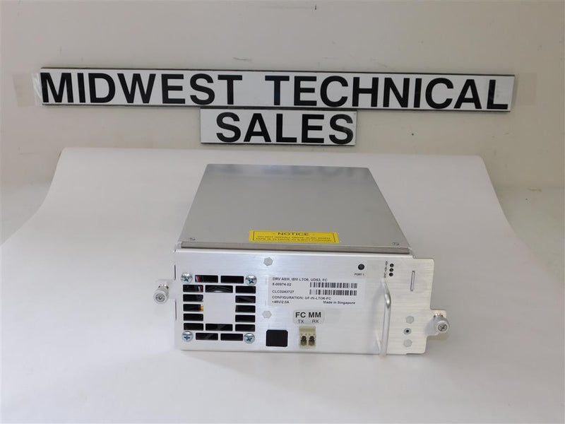 Quantum 8-00974-02 LTO6 FC Tape Drive In i500 Tray
