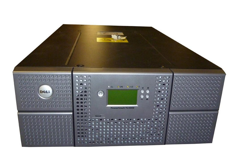 Dell PowerVault TL4000 Library w/2 LTO4 HH SAS tape drives. 4U Library- 48 slots