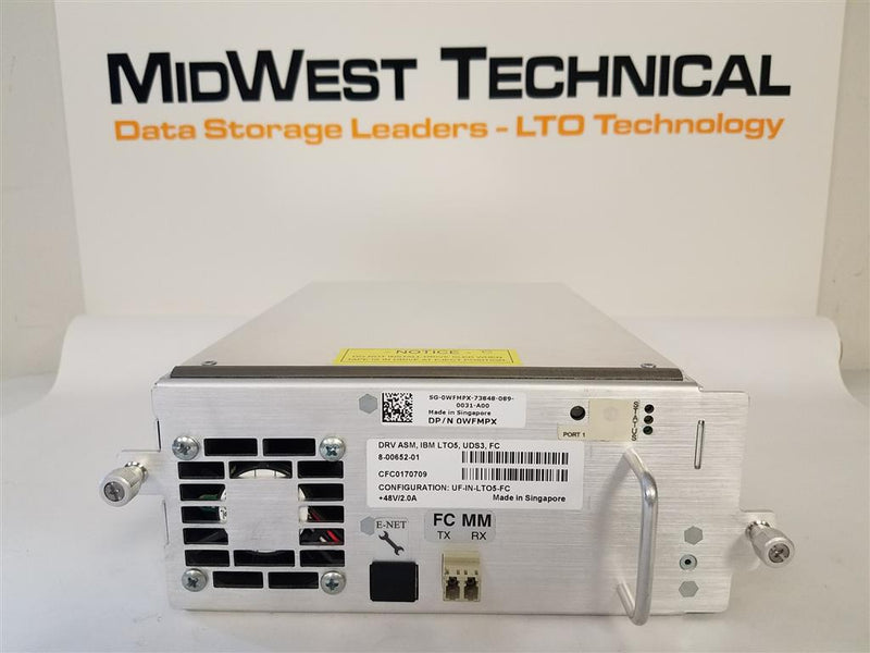 DELL WFMPX LTO5 FC Tape Drive For ML6000 8-00652-01 UF-IN-LTO5-FC IBM