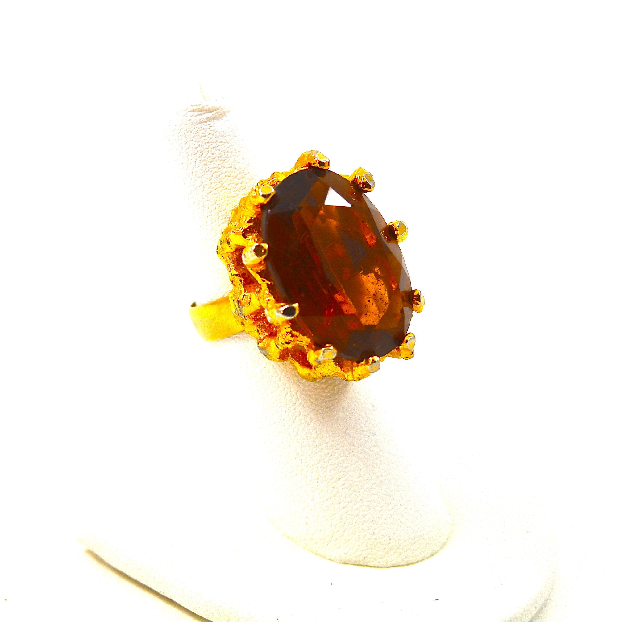 FACETED TOPAZ COCKTAIL RING