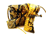 CARLOS FALCHI COATED NATURAL PYTHON CROSS BODY BAG