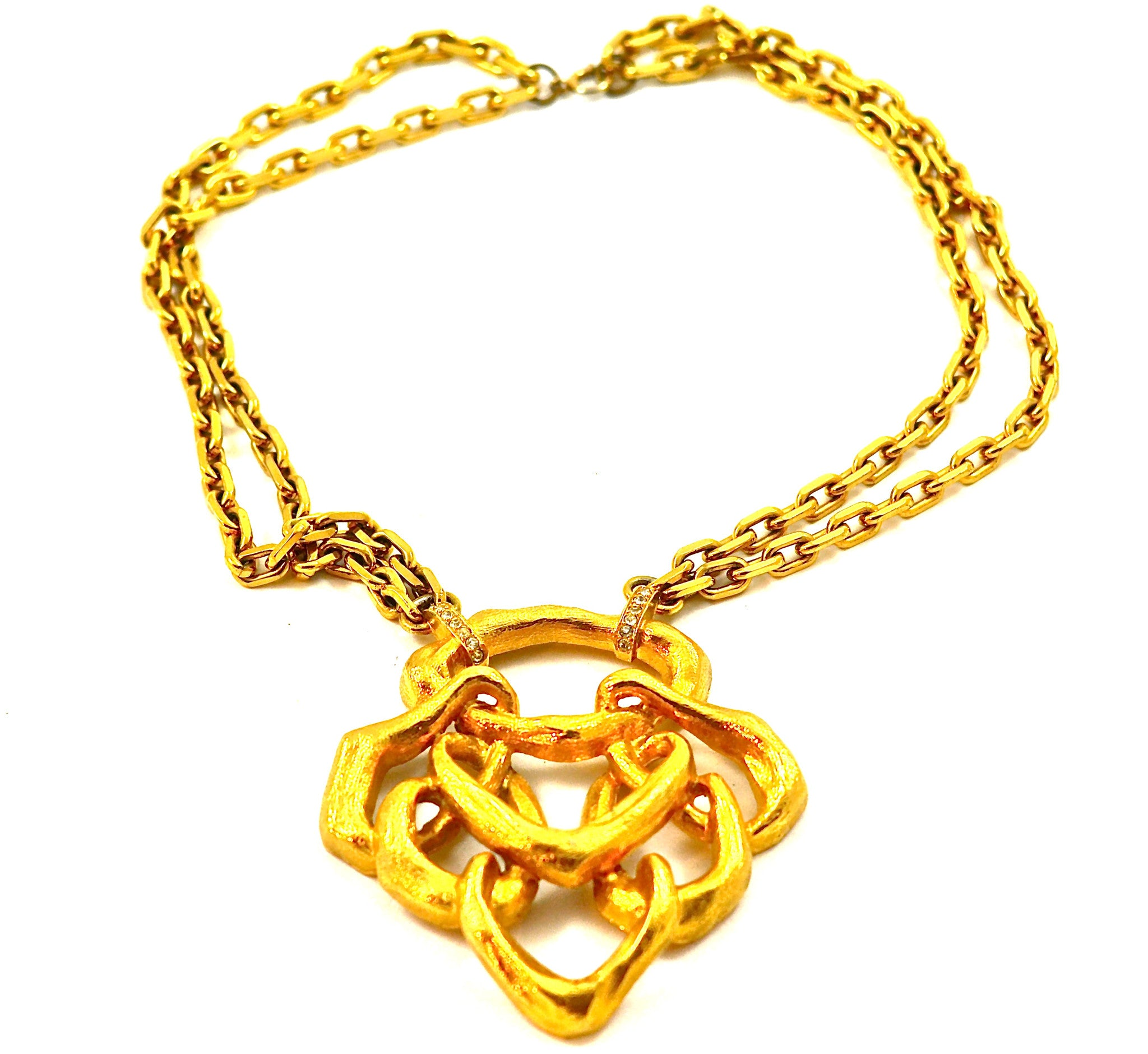 JOMAZ MATTE SWIRLS PENDANT NECKLACE