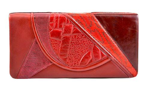 JUDITH LEIBER OVERSIZED REPTILE CLUTCH