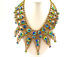 BIJOUX MG CZECH CRYSTAL SPIKED NECKLACE