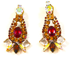 BIJOUX MG CZECH CRYSTAL EARRINGS