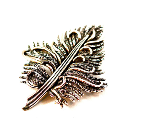 BOUCHER SILVER LEAF PIN