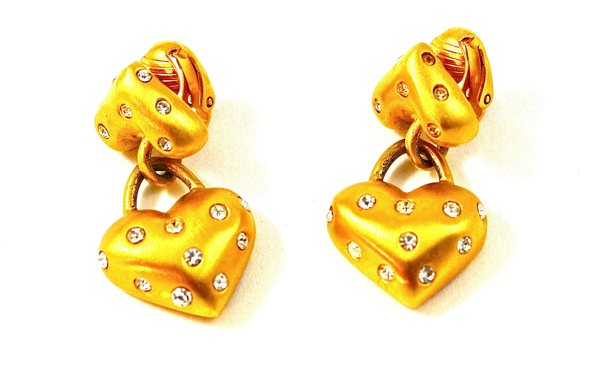 CAROLEE MATTE GOLD HEARTS EARRNGS