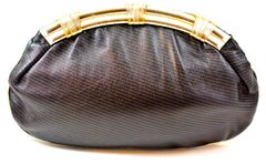 BARBARA BOLAN BUTTERY SOFT STRIPED LEATHER PURSE