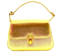 BIENEN DAVIS GOLD METALLIC LEATHER PURSE