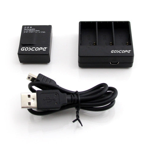 GoScope 3x Battery Charger Hero3 / Hero3+