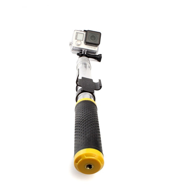 "Floating Extending 14-24"" Selfie Pole with WiFi Remote Clip for GoPro"