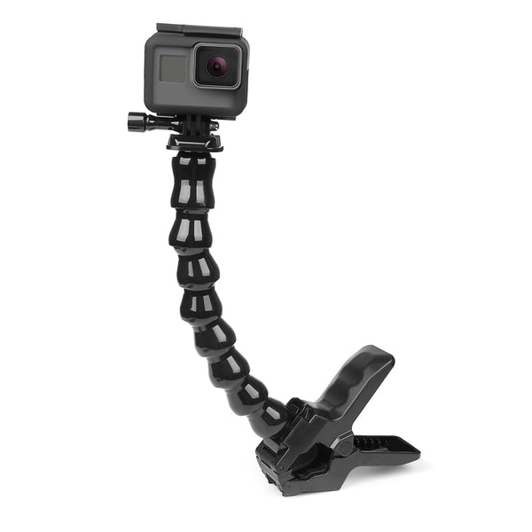 Jaws Flex Clamp Mount and Adjustable Goose Neck for GoPro