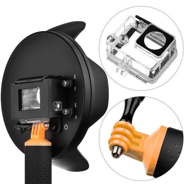 6 inch Portable Underwater Diving Split Dome Port for GoPro Hero 3+/4
