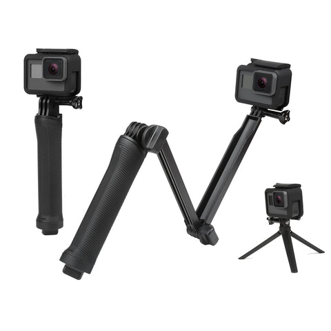 3-in-1 Monopod Grip Extension Arm with Hidden Tripod Stand for GoPro