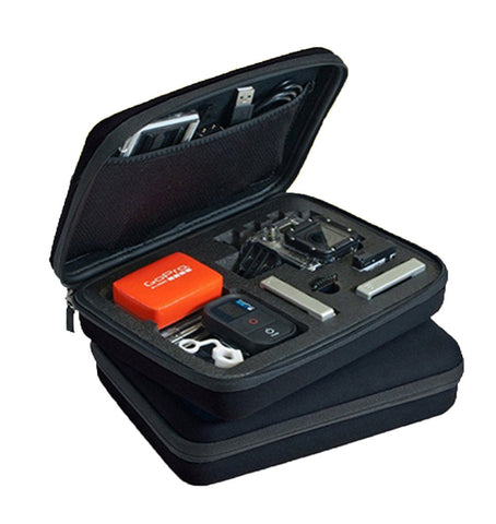 The Clam Medium Impact Resistant Camera & Accessories Case for GoPro