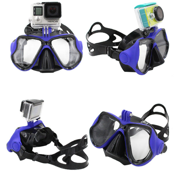 Scuba Diving Mask with Integrated GoPro Mount
