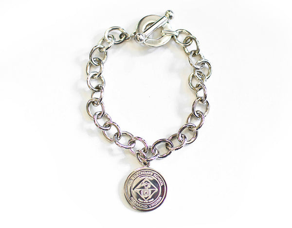 Thislte and Bee Sterling Silver Charm Bracelet