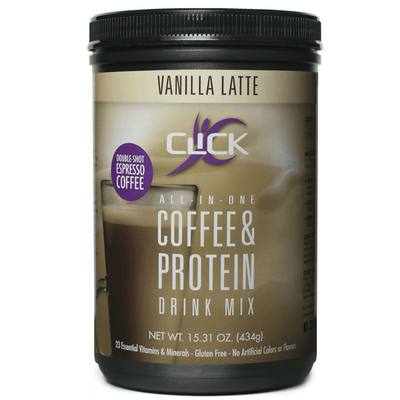 Best Value: 4 CLICK Coffee Protein Canisters + FREE Shipping + FREE Gift (You Pick Flavors & Gift)