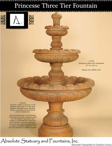 Princesse Three Tier Fountain
