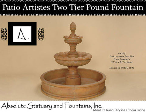 Patio Artistes Two Tier Pound Fountain