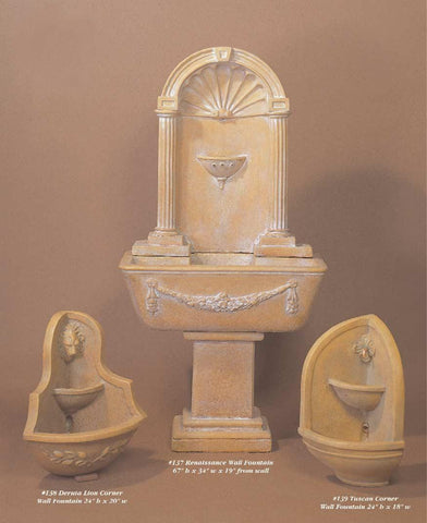 Tuscan Corner wall fountain