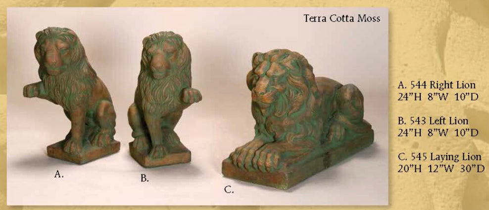 Lion statue, Right & Left/ Laying