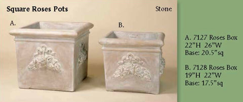 Pots, square roses