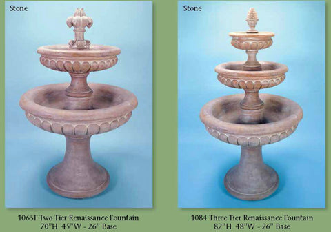 Two/Three Tier Renaissance Fountain