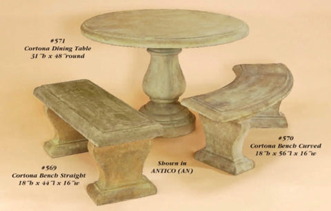 Cortona Dining Table & benches