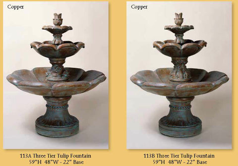 Three Tier Tulip Fountain