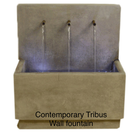 Tribus wall fountain