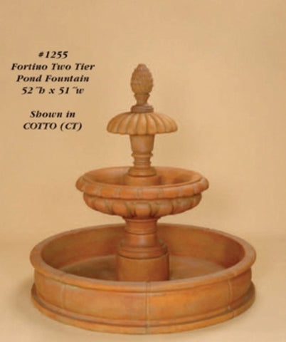 Fortino Two Tier Pond Fountain