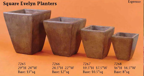 Square Evelyn Planters