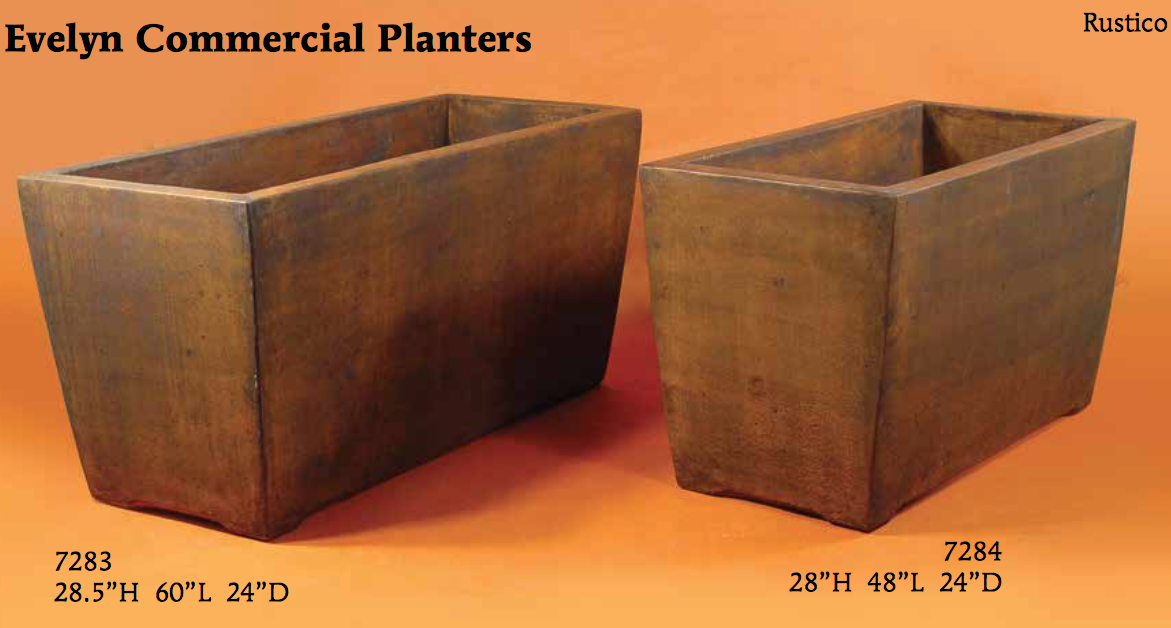 Evelyn Commercial planters