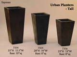 Contemporary Tall Urban Planters