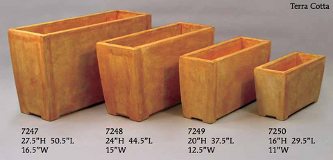 Evelyn Rectangle Planters