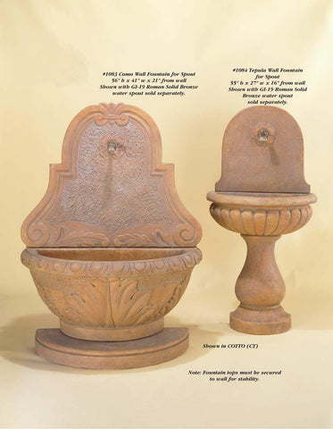 Tepula Wall Fountain for spout