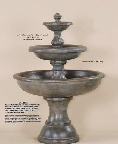 Mantova Three Tier Fountain