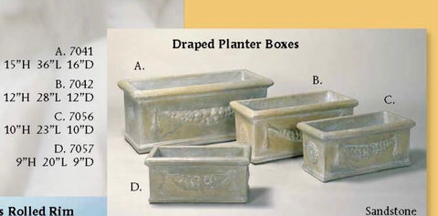 Draped planter boxes