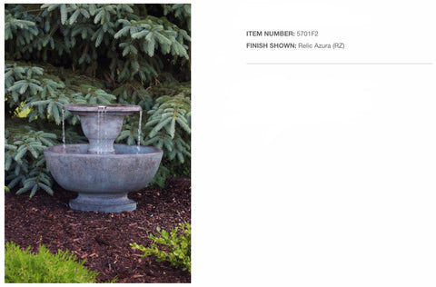 Alfresco Fountain with and w/out Plume Light