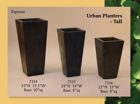 Contemporary Urban Square Planters