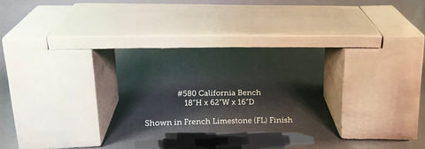 Modern bench , California cement bench