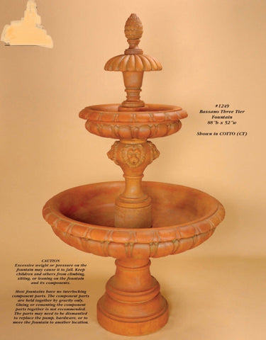Bassano Three Tier Fountain