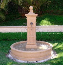 Aquitaine Pond Fountain w/ Rustic iron spouts