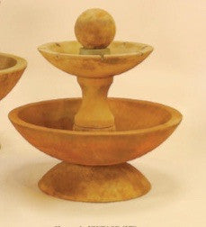Due Two Tier Short Fountain with Spillways