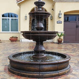 "Montefalco Three Tier with Bottom 66"" Pond Fountain and without pond"